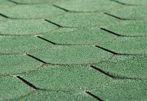 Bitumen-Dachschindeln Biberschwanz vintage grün