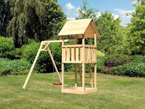 Akubi Spielturm Lotti mit Einzelschaukel