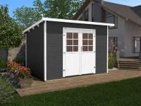 Weka Gartenhaus 219 Größe 1 anthrazit 28 mm