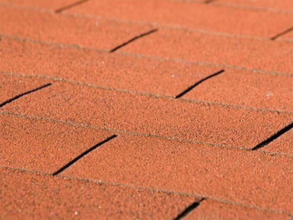 Weka Dachschindeln Rechteck rot