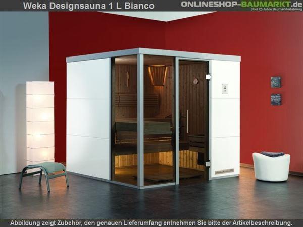 Weka Wellnissage Premium Designsauna 1L Bianco ohne Ofen inkl. Montage
