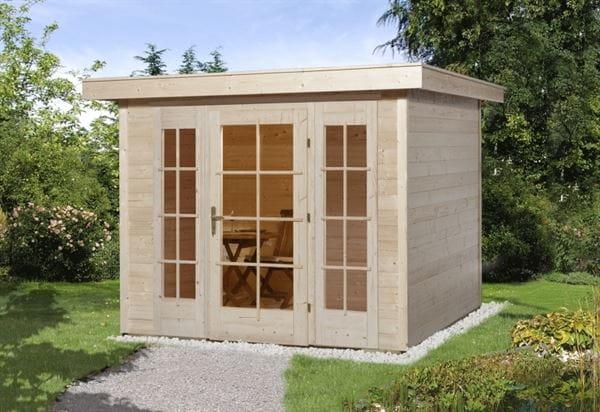 Weka Gartenhaus wekaLine 172 Größe 1 natur E-Glastür und 2 Fensterpaneele