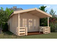 Weka Gartenhaus 137 Gr 2 mit Vordach und Terrasse