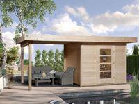 Weka Gartenhaus 172 Größe 2 mit Anbaudach 300 cm