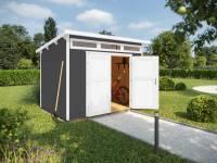 Weka Gartenhaus 264 Gr. 3 21 mm grau