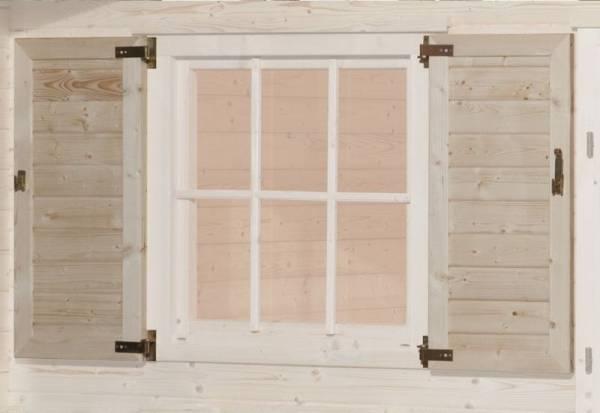 Weka Fensterladen 2-seitig für Fenster 91 x 91 cm