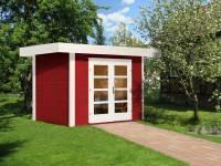 Weka Gartenhaus 126 Plus Gr. 1 schwedenrot