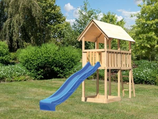 Akubi Spielturm Danny mit Rutsche in blau