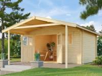 Weka Gartenhaus 136 Gr. 1 Vordach 200 cm
