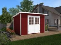 Weka Gartenhaus 219 Größe 1 schwedenrot 28 mm