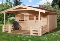 Weka Gartenhaus 136 Gr. 2 mit Vordach und Terrasse