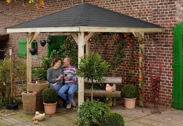 Weka Pavillon Gartenoase 651 Größe 1