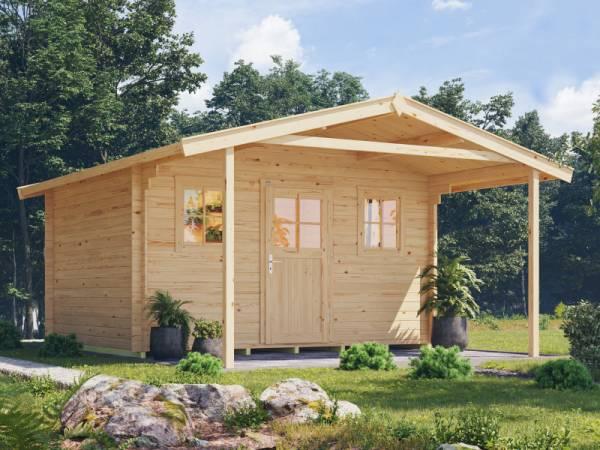 Weka Gartenhaus 110 Gr. 2 Vordach 200 cm