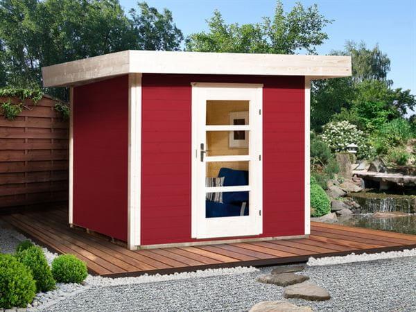 Weka Gartenhaus 172 Größe 1 schwedenrot