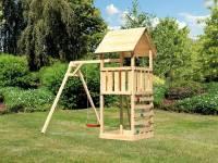 Akubi Spielturm Lotti mit Kletterwand und Einzelschaukel