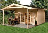 Weka Gartenhaus 137 Gr. 2 Vordach 200 cm
