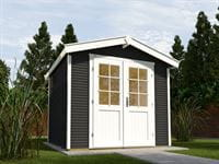 Weka Gartenhaus 218 Größe 1 anthrazit 28 mm