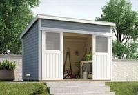 Weka Gartenhaus 225 Größe 2 grau