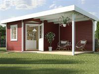 Weka Gartenhaus 213 Plus Gr 2 schwedenrot Anbau 300 cm