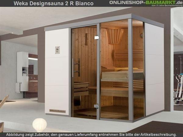 Weka Wellnissage Premium Designsauna 2R Bianco ohne Ofen inkl. Montage