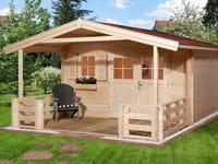 Weka Gartenhaus 111 Gr. 3 Vordach + 200 cm Terrasse