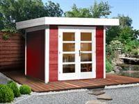 Weka Gartenhaus 126 Gr. 3 schwedenrot