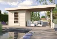 Weka Gartenhaus wekaLine 172 Größe 2 natur Anbau 300 cm