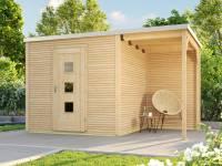 Weka Gartenhaus wekaLine 413 A Gr 1 natur mit Anbau 150 cm