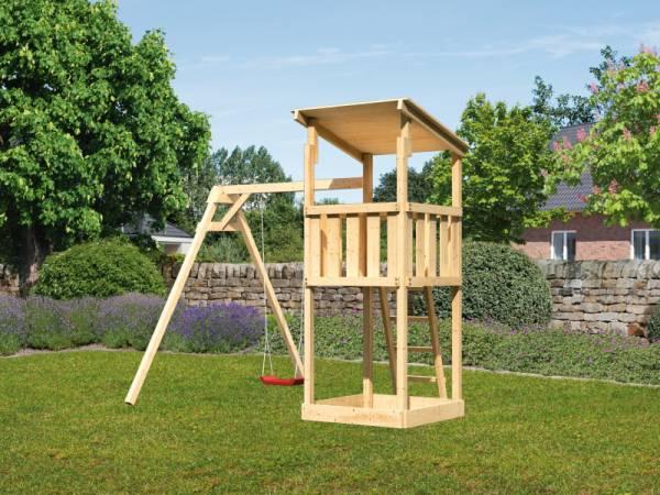 Akubi Spielturm Anna + Einzelschaukel