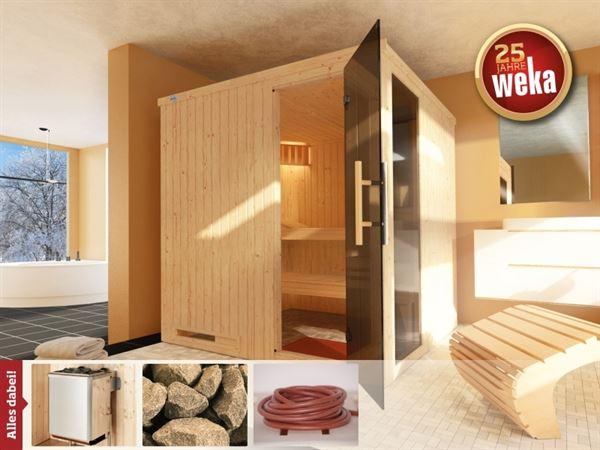 Weka Sauna Halmstad 2 GTF inkl. 9 kW Ofen mit Ofenanschlusskabel
