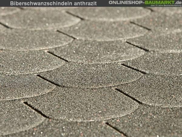 Bitumen-Dachschindeln Biberschwanz anthrazit
