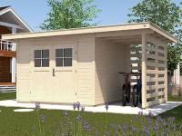 Weka Gartenhaus 179 A Größe 1 mit Anbau 150 cm