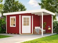 Weka Gartenhaus 213 Plus Gr 1 schwedenrot Anbau 150 cm