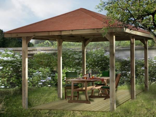 Weka Pavillon Gartenoase 651 D Größe 1 Sparset