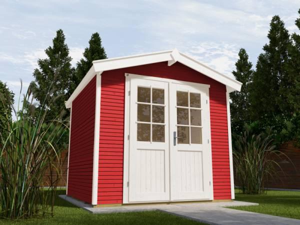 Weka Gartenhaus 218 Größe 2 schwedenrot 28 mm