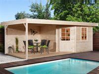 Weka Gartenhaus 213 Plus Gr 1 natur Anbau 300 cm
