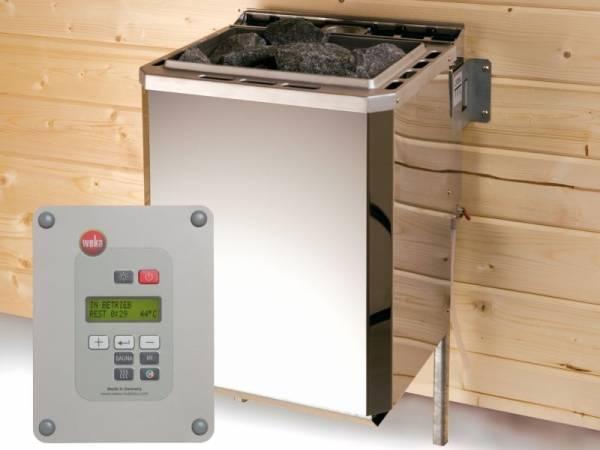 Weka Technikpaket 2 für Saunahaus Serie 533 mit 9kW Bio Ofen, Steuerung, Kabel