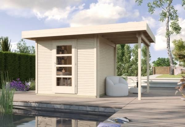 Weka Gartenhaus wekaLine 172 A Größe 1 natur Anbau 150 cm