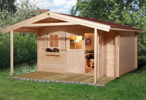 Weka Gartenhaus 110 Gr. 1 Vordach 200 cm