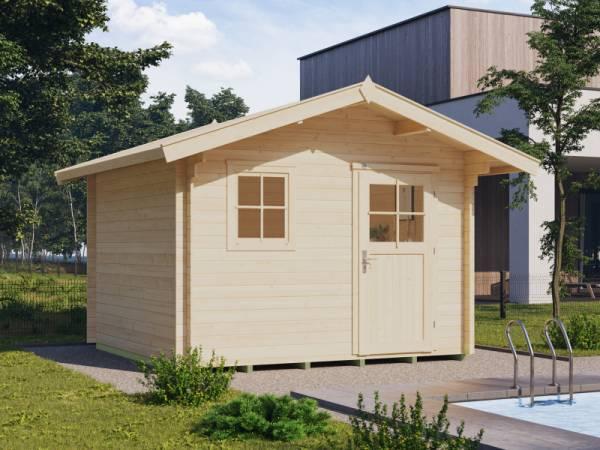 Weka Gartenhaus 107 Gr 5 Vordach 60 cm 28 mm
