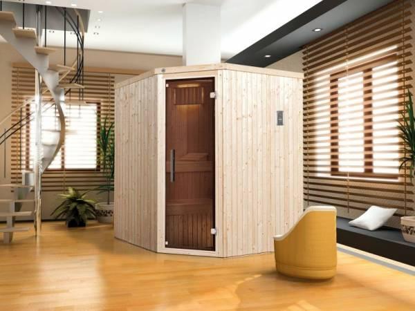 Weka Sauna Kiruna Gr. 2 mit Glastür- 4,5 kW Ofen ext. Strg