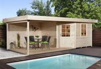Weka Gartenhaus 5-Eck-Haus 213 Gr 2 natur Anbau 300 cm