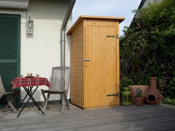 Weka Terrassenschrank mit Flachdach und Einzeltür