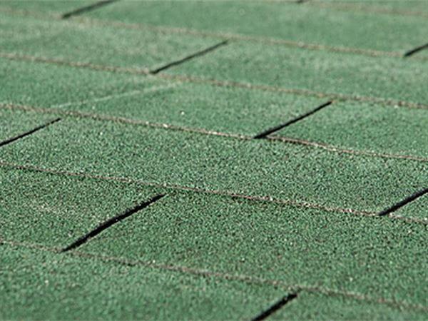 Bitumen-Dachschindeln Rechteck grün