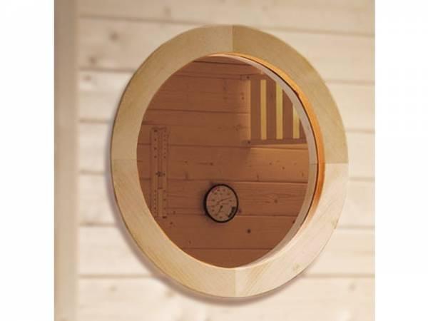 Weka Sauna Rundfenster für 45 mm Massivholzsaunen