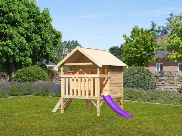 Akubi Spielhaus Mini Sparset mit violetter Rutsche