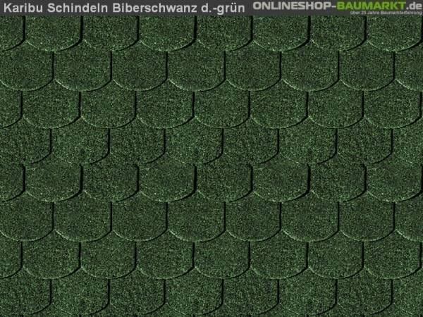 Karibu Dachschindeln Biberschwanz dunkelgrün