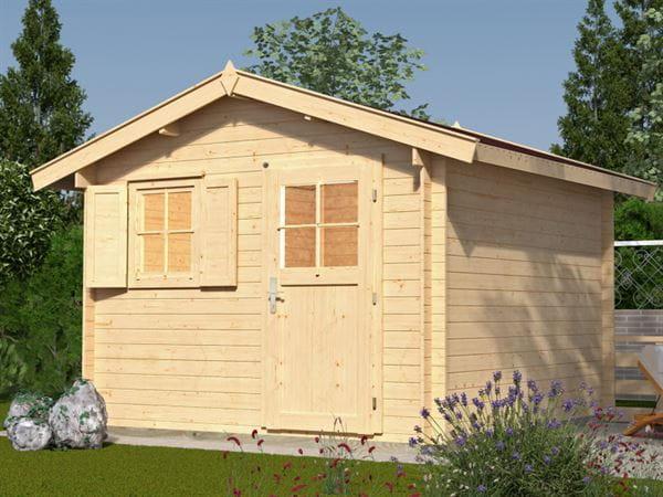 Weka Gartenhaus 107 Gr 4 Vordach 20 cm 28 mm