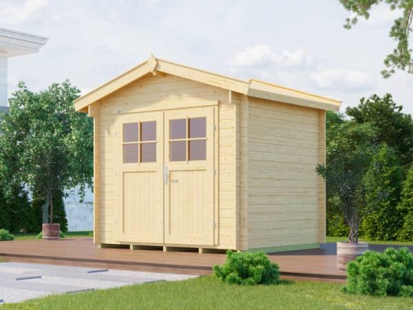 Weka Gartenhaus 112 Gr 2 Vordach 20 cm