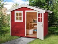 Weka Gartenhaus 123 Gr. 1 schwedenrot